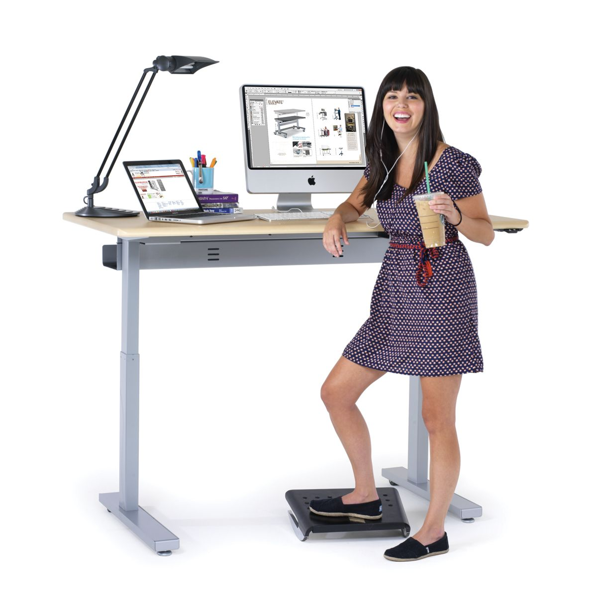 Electric Standing Desks Powered Stand Up Desks From Anthro