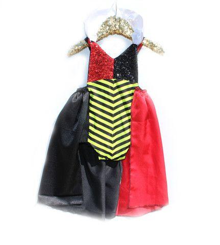 My Queen of Hearts Sparkle Romper Baby Halloween Costume - trajes de halloween para bebes