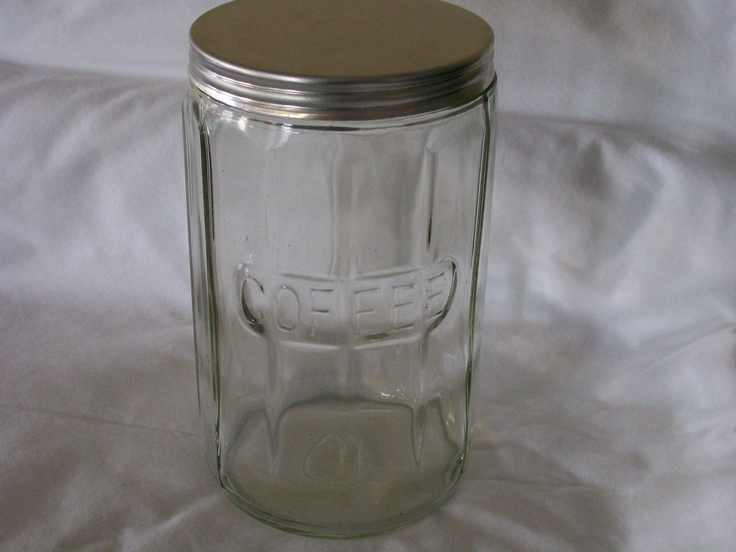 Vintage Hoosier Cabinet Glass Colonial Coffee Jar Vintage Coffee