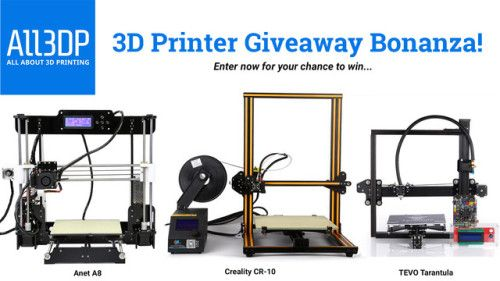 3D Printer Giveaway! Win one of 6 3D Printers! (10/02/2017