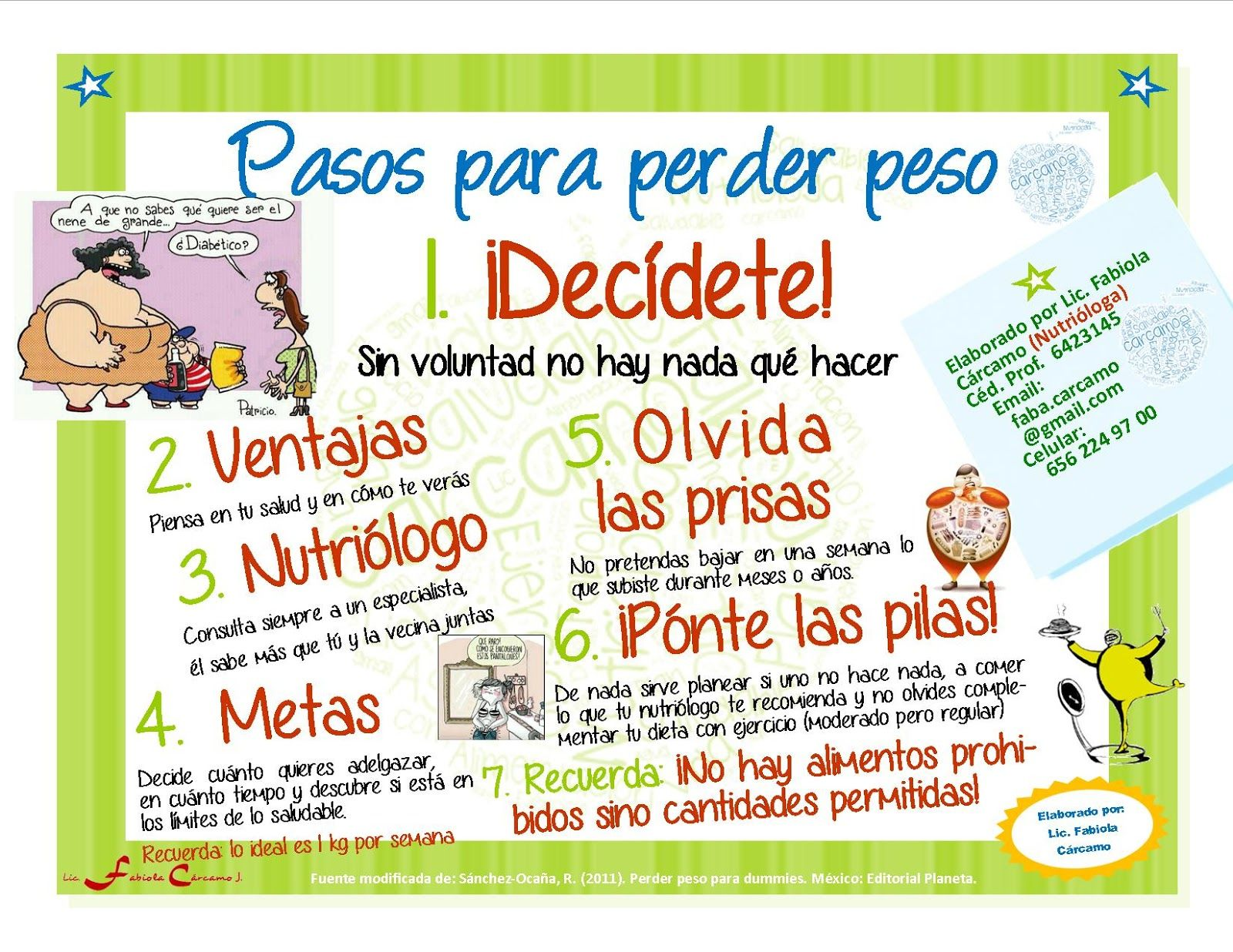 Nutrinotas junio 2013 pasos para perder peso - Alimentos para perder peso ...