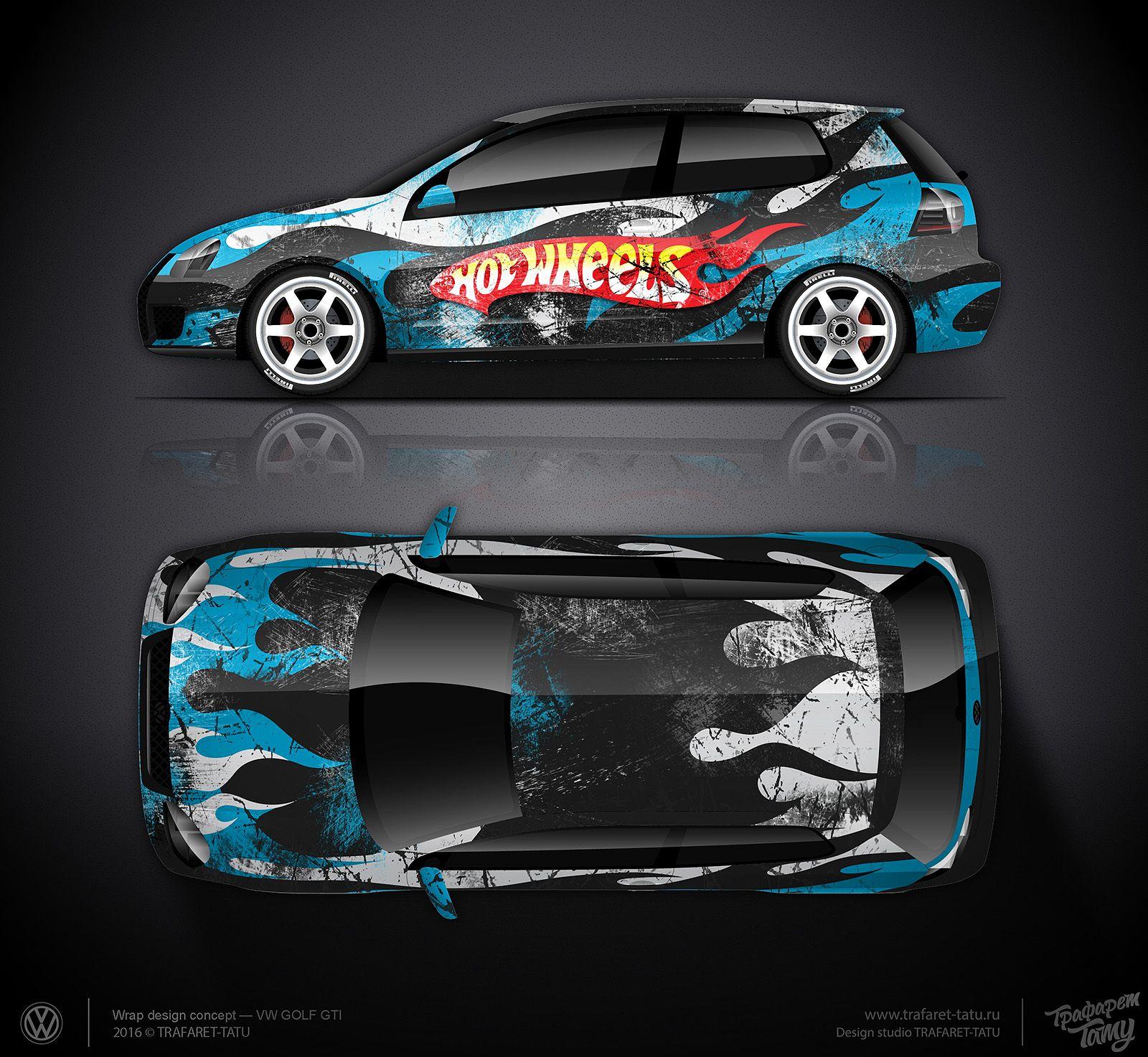 Design car wrap - Design Concept 2 Vw Golf Gti Hot Wheels Vehicle Wrapsdesign