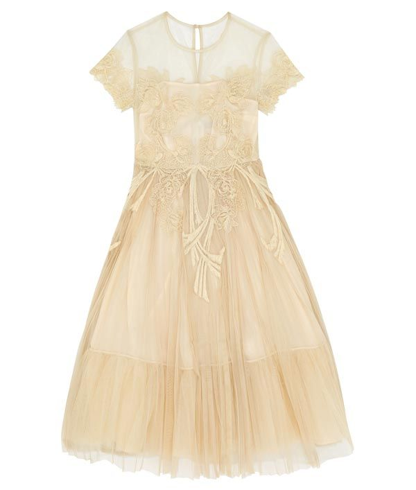 Pale yellow tea dress from ASOS