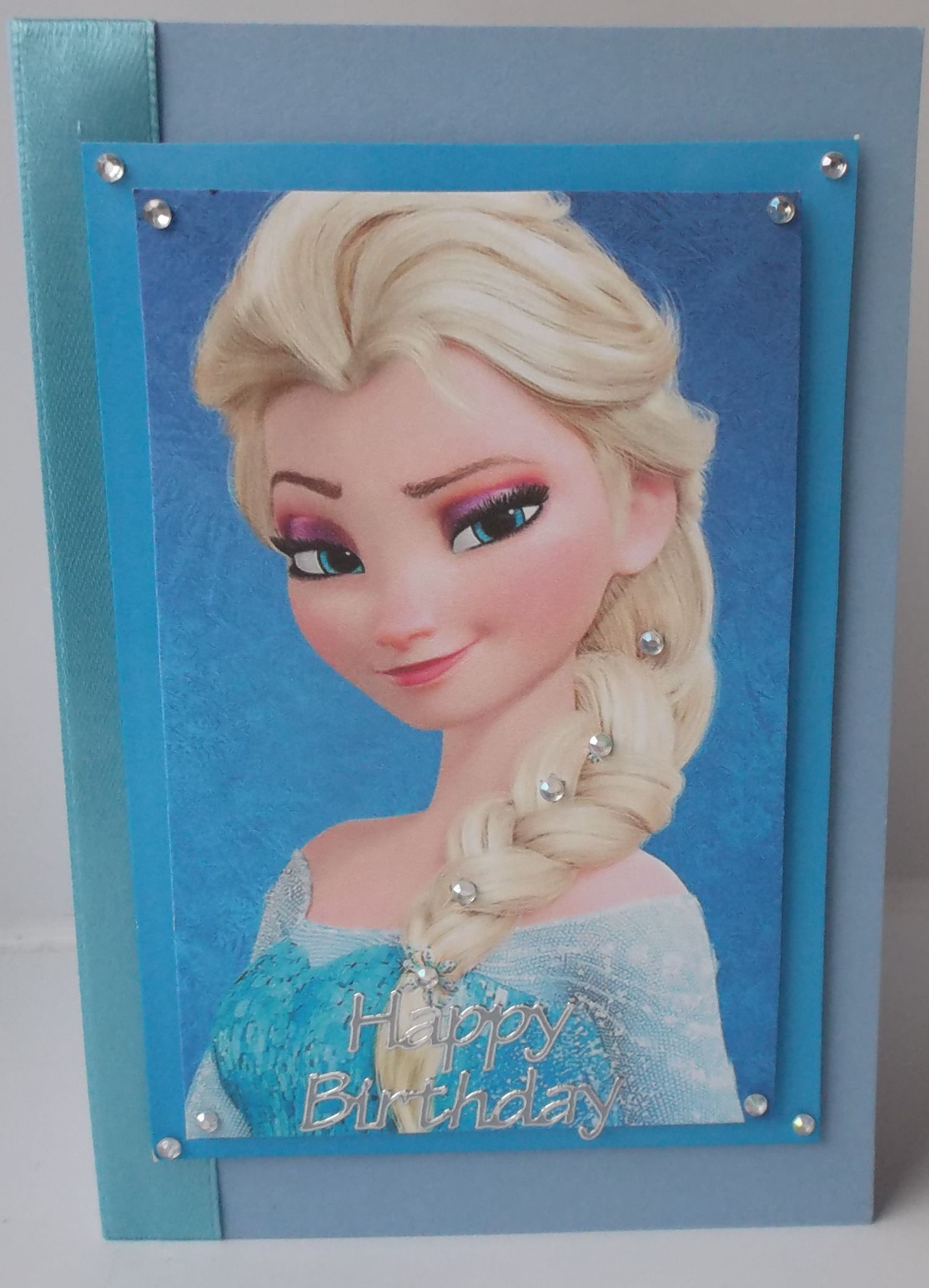 Handmade Frozen Birthday Card Elsa Character Cards Pinterest