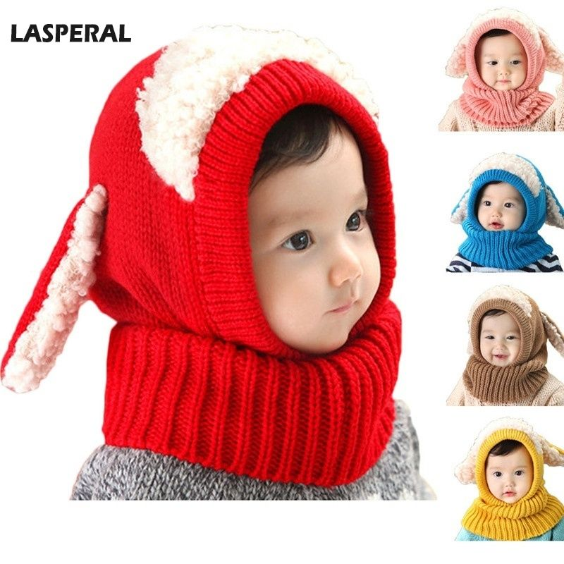 e70c5e143 LASPERAL Novelty Wool Hat Cute Child Puppy Cashmere Ears Beanie ...