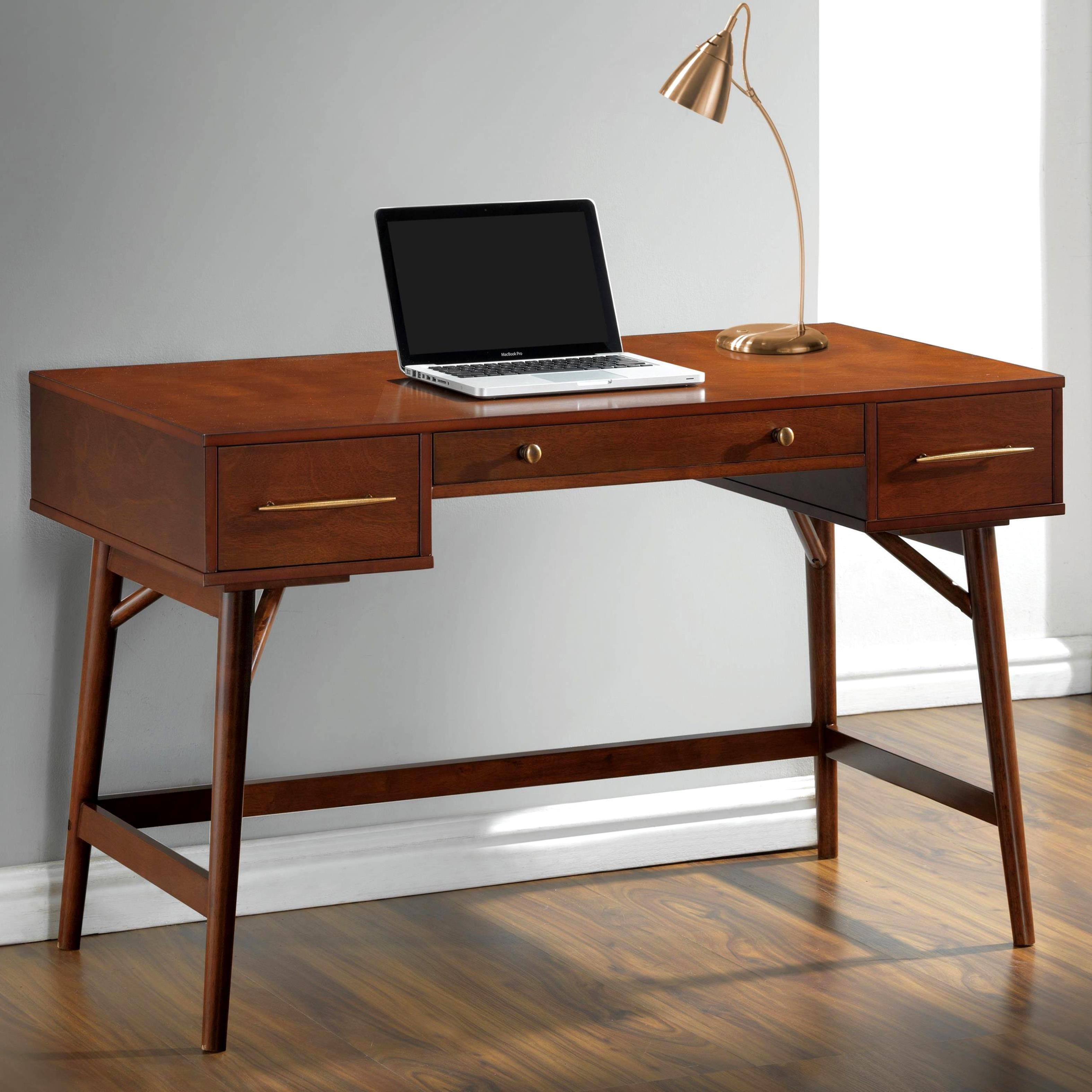 Mid Century Modern Design Home Office Writing Computer Desk With Drawers Writing Desk Home Office Furniture Coaster Furniture