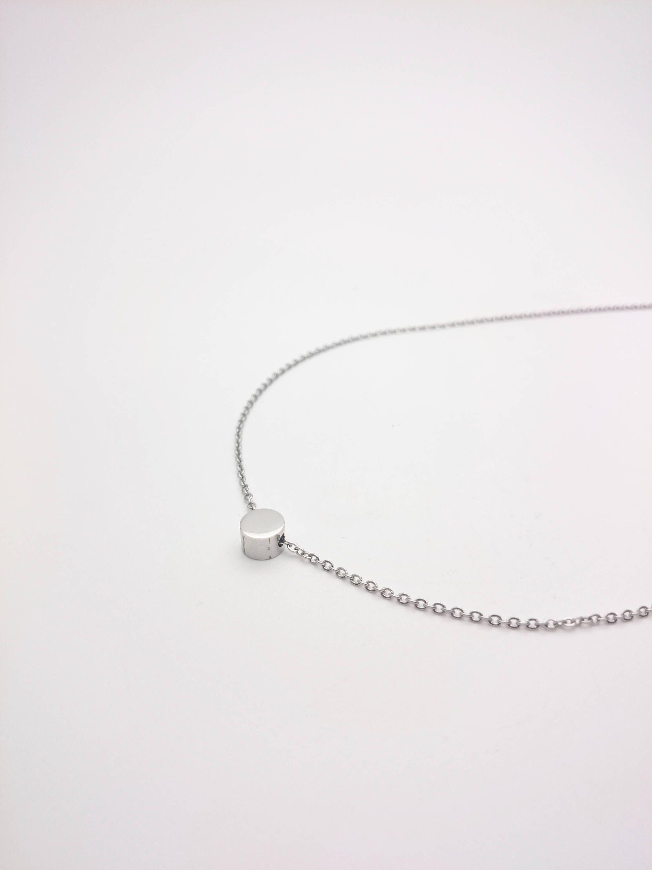 collier argent mini perles