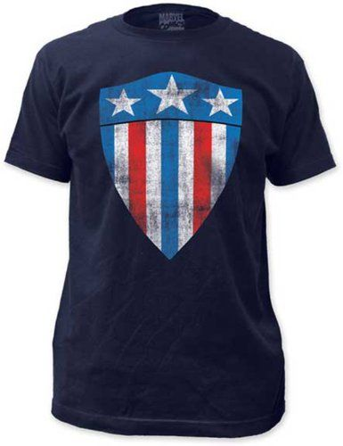 d1485cb14 MARVEL COMICS CAPTAIN AMERICA - FIRST SHIELD - FITTED JERSEY TEE (XL ...