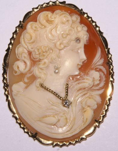 Antique victorian ladies 14k yellow gold cameo pendantbrooch w4 antique victorian ladies 14k yellow gold cameo pendantbrooch w4 diamonds in jewelry mozeypictures Images