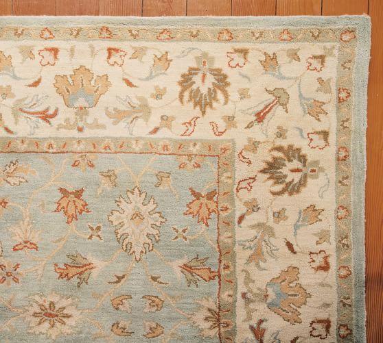 Malika Persian Style Tufted Wool Rug 8x10 Porcelain