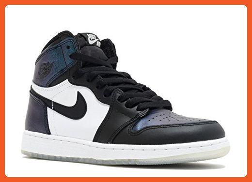 new cheap uk availability latest Nike Air Jordan 1 Retro Hi OG Black/MetallicSilver 907959 ...