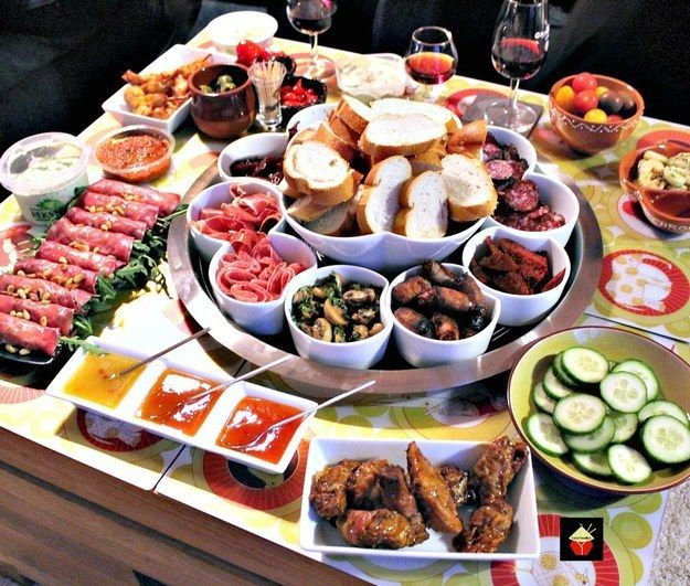 tapas dinner party menu ideas