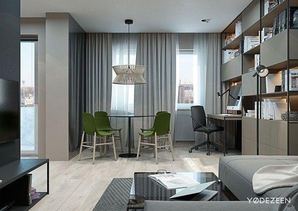 5 Small Studio Apartments With Beautiful Design Small apartment - diseo de interiores de departamentos