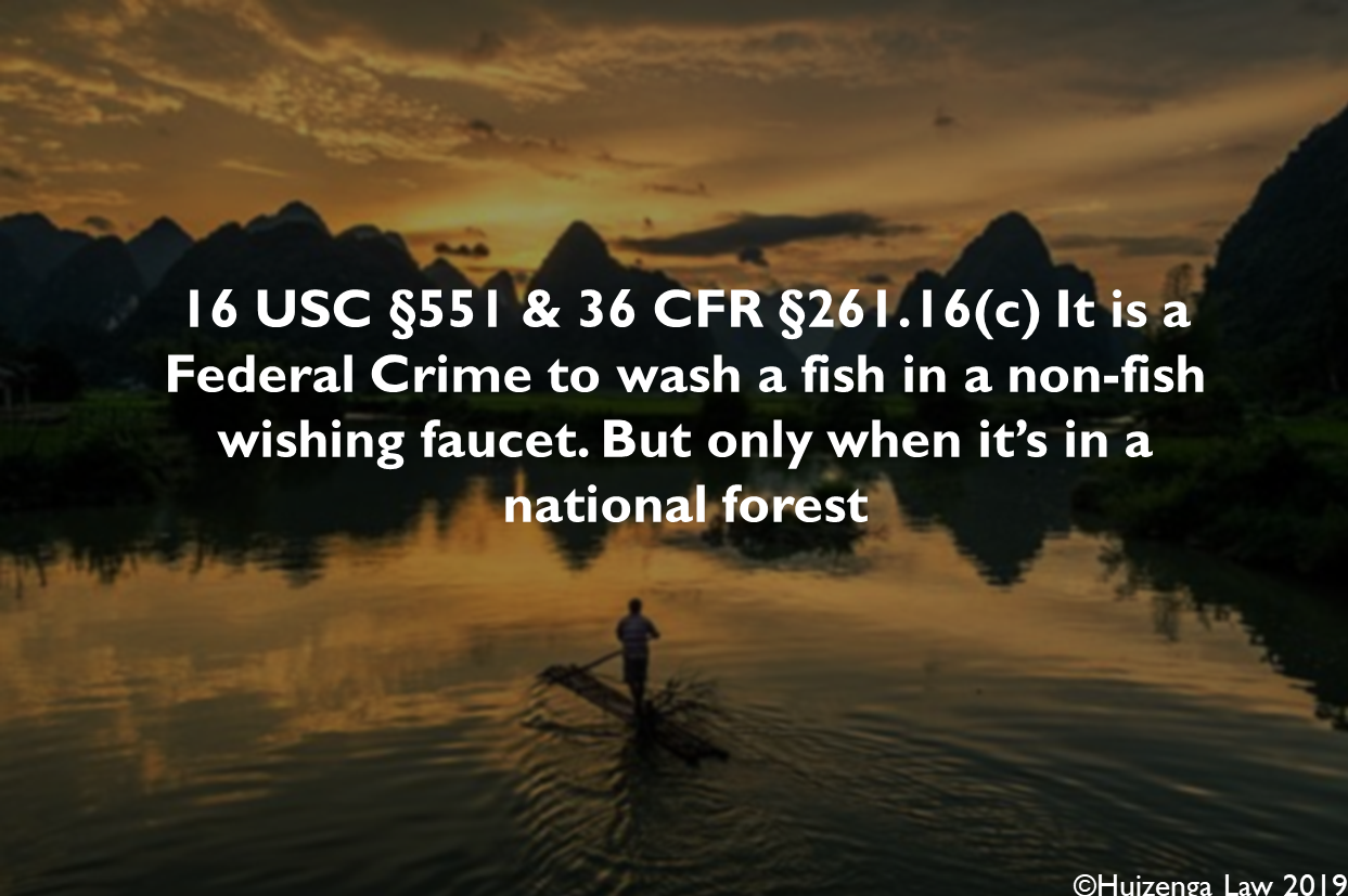 Washing Fish Code of federal regulations, National