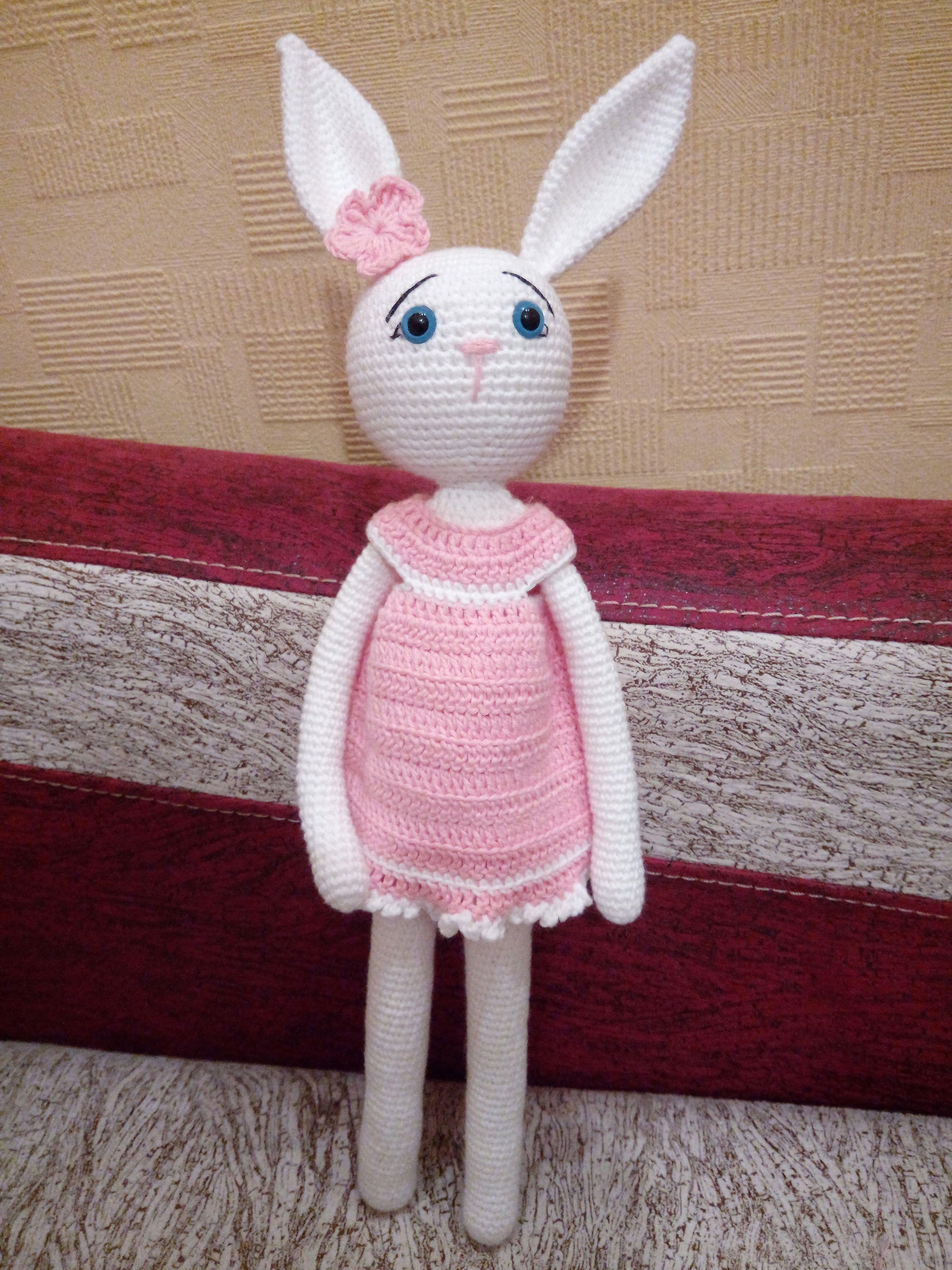 30*16*8CM Crochet Pattern Handmade Toy Cute Rabbit Amigurumi ... | 4160x3120