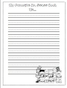 Dr Seuss Writing Paper Writing Paper Letter Writing Template Kids Writing