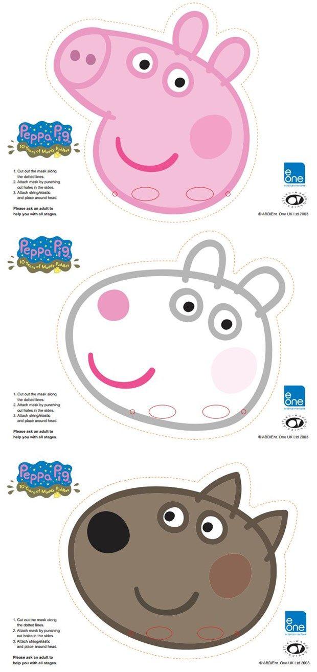 Free Printable Character Face Masks Chloe S 4th Bday Pinterest