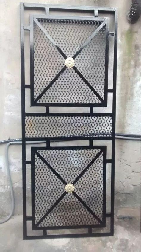 Puerta reja de malla portones pinterest puerta reja Puertas metalicas usadas