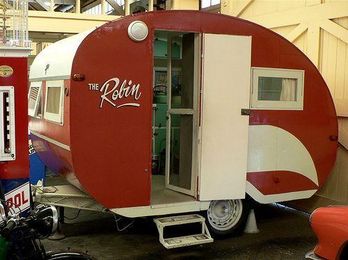 Perth Fremantle Motor Museum Old Caravan Little red camperLittle red camper