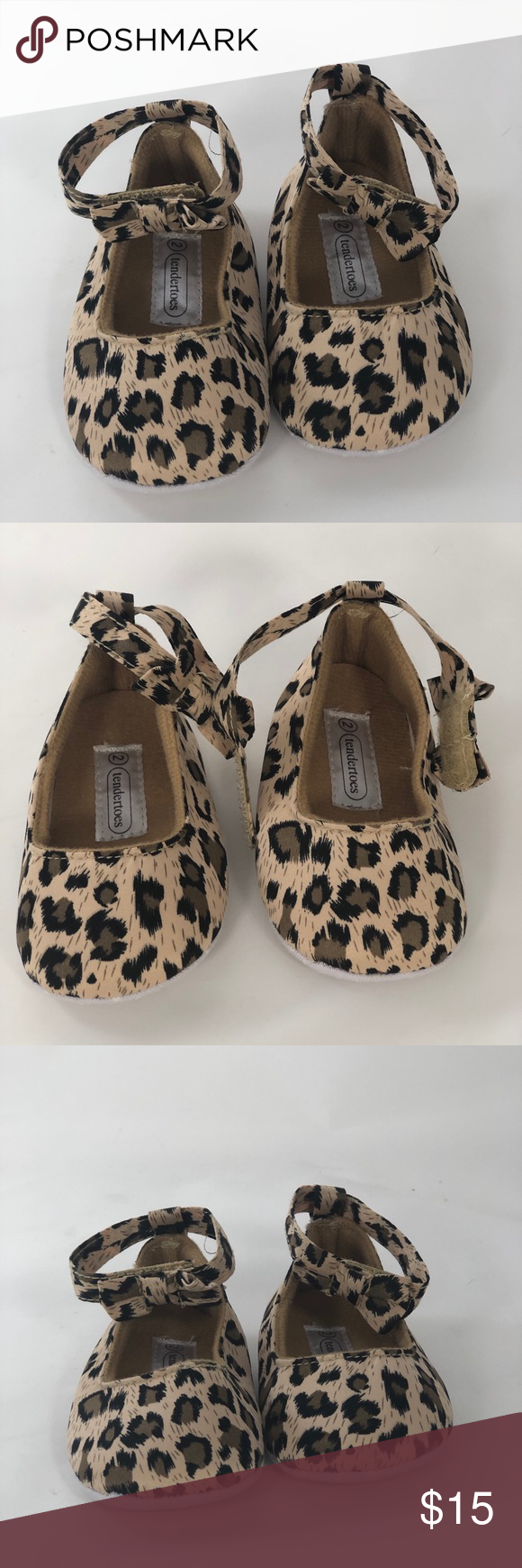 Photo of Newborn shoes Leopard print size 2 🤍New Boutique baby girl shoes 🤍Leopard…