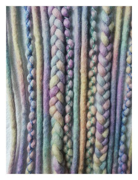 """Wool-Dreads+""""Pastell+Rainbow""""+kurz+von+KATINKA+auf+DaWanda.com"""