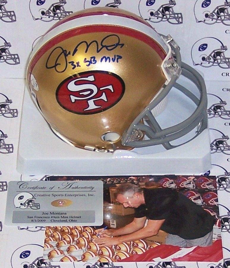 Joe Montana Hand Signed 49ers Mini Helmet - PSA/DNA