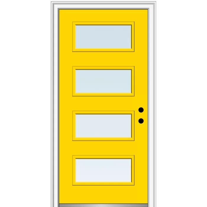 Spotlight Steel Prehung Front Entry Door In 2020 Mmi Door Front Entry Doors Frosted Glass Paint
