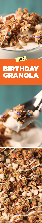 Birthday cake granola recipe delish granola food