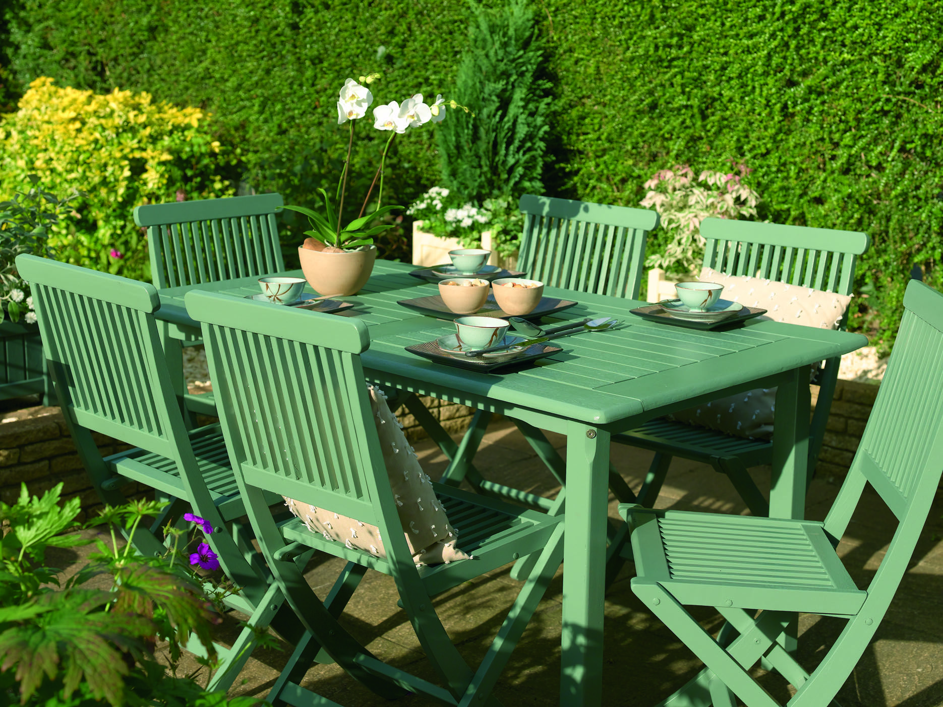 Pin By Suzanne Duvall On Garden Colour Cuprinol Garden Shades Painted Garden Furniture Outdoor Garden Furniture