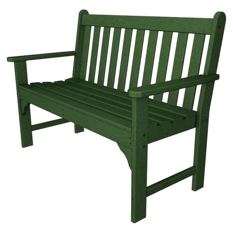 Outdoor POLYWOOD® Vineyard Recycled Plastic Garden Bench Green - GNB60GR