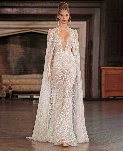 Real Photo Sexy Wedding Dresses With Cape 2017 Berta Bridal Spagetti Strap Deep V Neck Full Embellishment Sweep Train Beach Wedding Dress Beautiful Wedding Dresses From Gonewithwind, $804.03| DHgate.Com #bertaweddingdress Real Photo Sexy Wedding Dresses With Cape 2017 Berta Bridal Spagetti Strap Deep V Neck Full Embellishment Sweep Train Beach Wedding Dress Beautiful Wedding Dresses From Gonewithwind, $804.03| DHgate.Com #bertaweddingdress