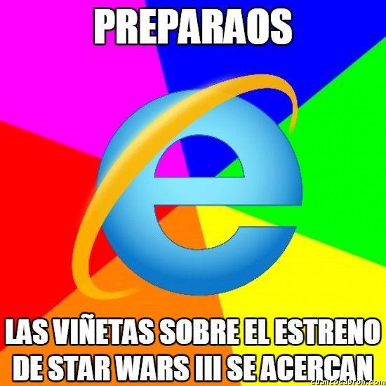 ¡Se acercan los anuncios de Star Wars III!        Gracias a http://www.cuantocabron.com/   Si quieres leer la noticia completa visita: http://www.estoy-aburrido.com/se-acercan-los-anuncios-de-star-wars-iii/