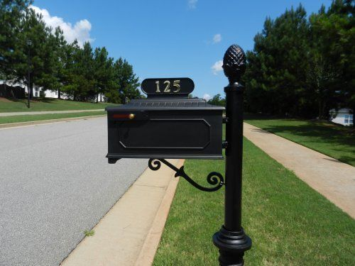 The Corinthian Cast Aluminum Mailbox And Post System Black By Addresses Of Distinction 385 00 The Corinthian Is