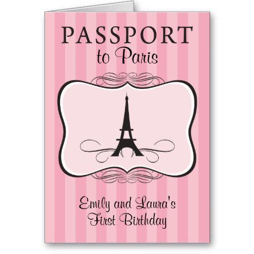 Convite Do Passaporte De Paris Do Aniversario Dos Zazzle Com Br