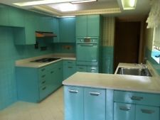 Vintage metal kitchen cabinets fully functional and not a scratch in sight