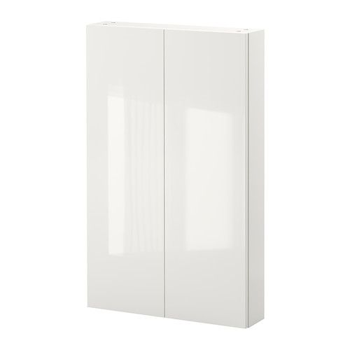 GODMORGON Wall cabinet with 2 doors, high gloss white $10000 Size - Armoire Ikea Porte Coulissante