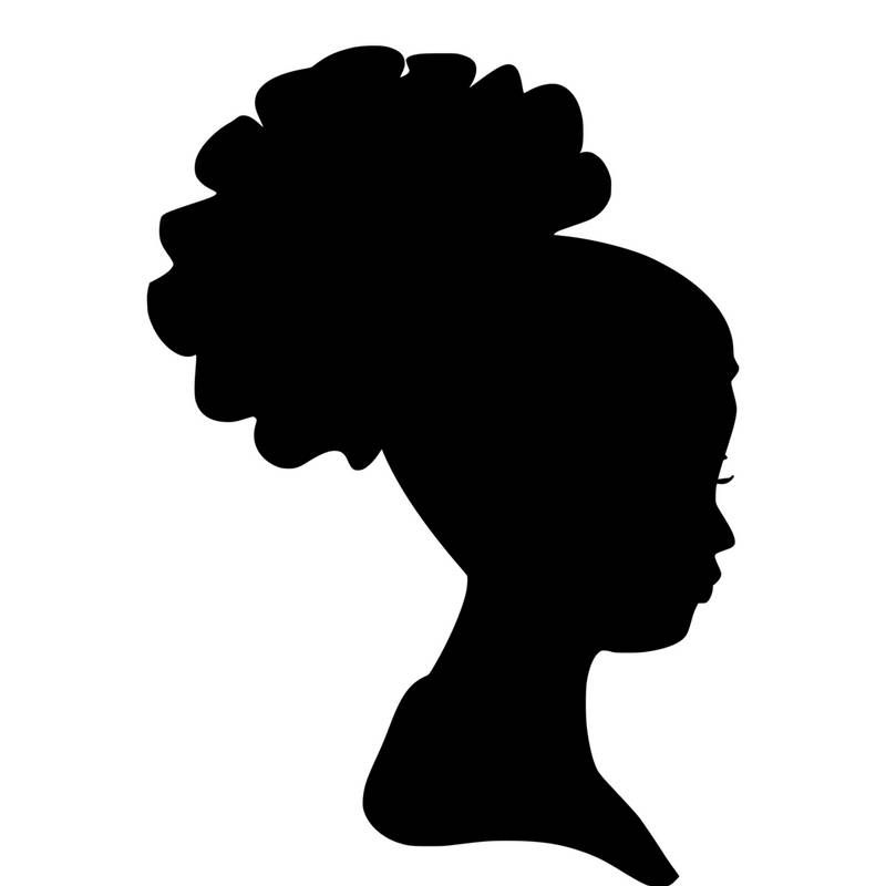 African Woman Silhouette SVG Clip Art Afro Puff Natural ...