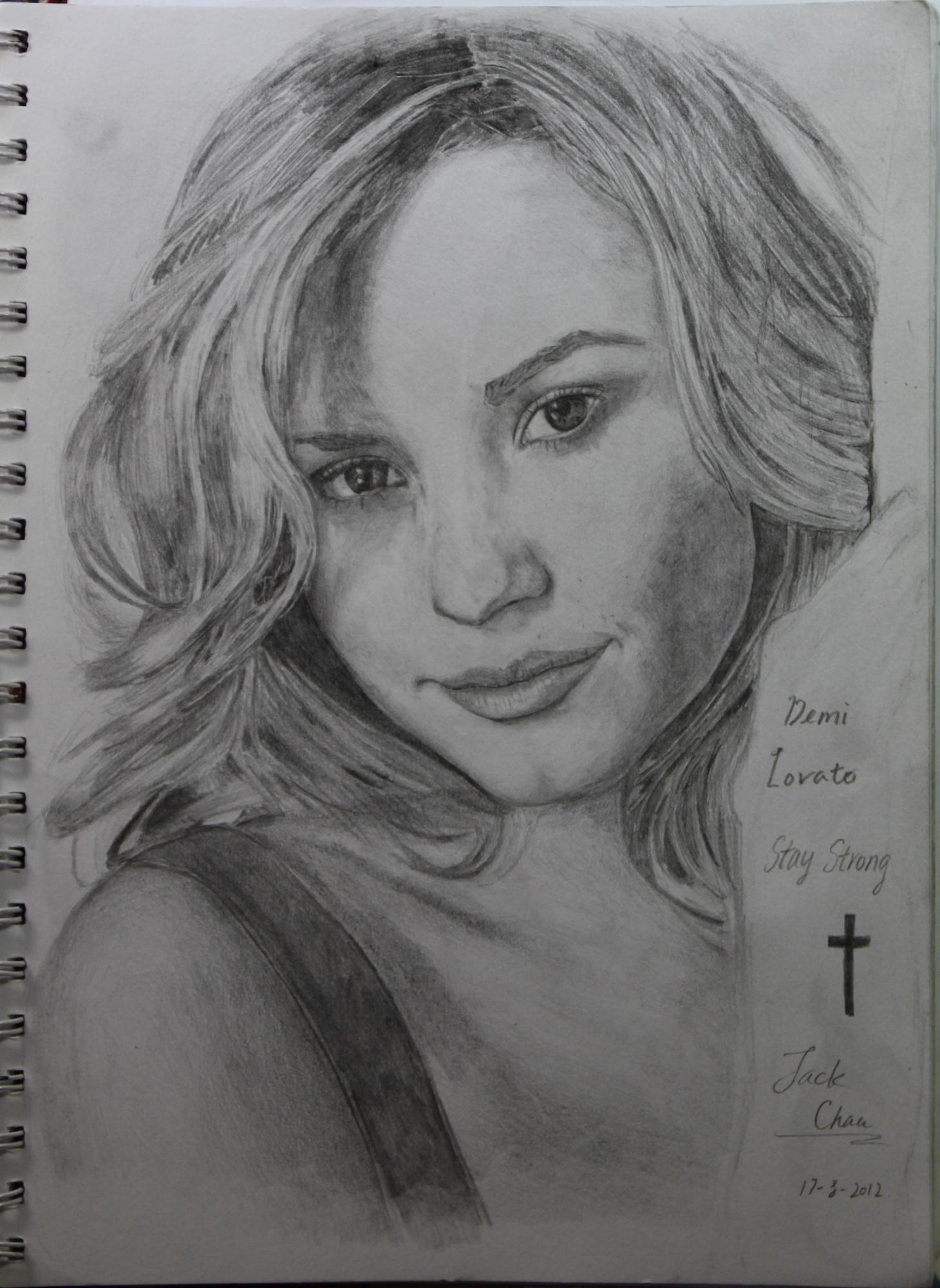 A Drawing Of Demi Lovato Fan Art