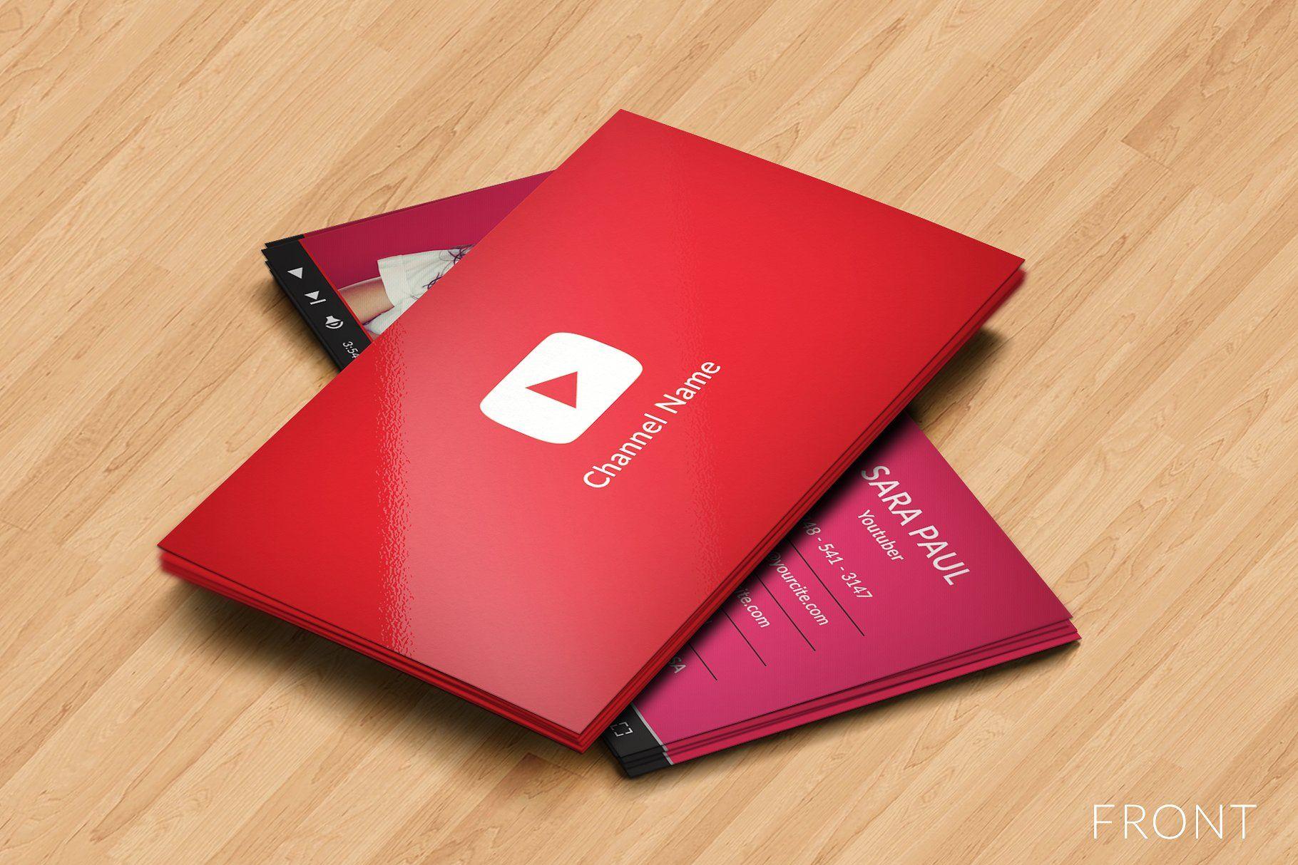 Youtube Business Card By Jaisivakumar On Creativemarket Youtube