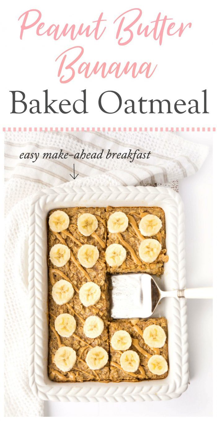 Peanut Butter Banana Baked Oatmeal images