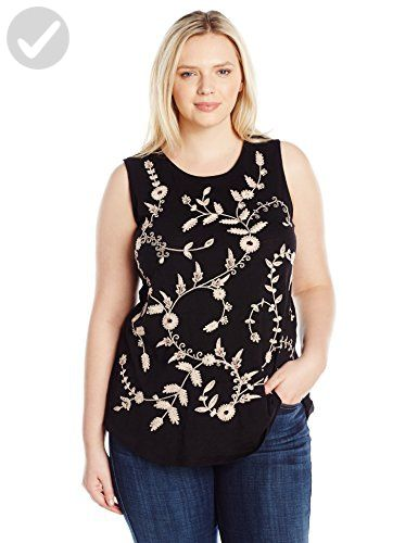 4c294d4cb92 Lucky Brand Women s Plus Size Embroidered Tank Top