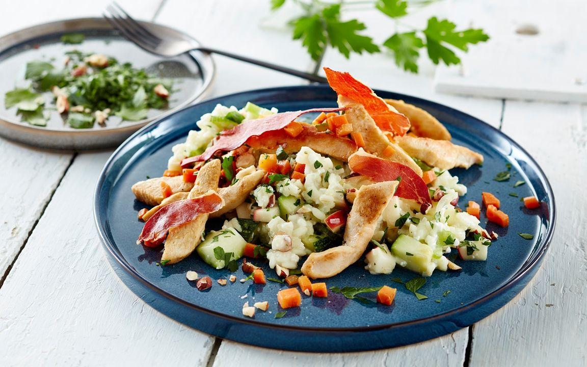 Grontsagsrisotto Med Hytteost Og Kylling Recipe Pasta Salad Ethnic Recipes Pasta