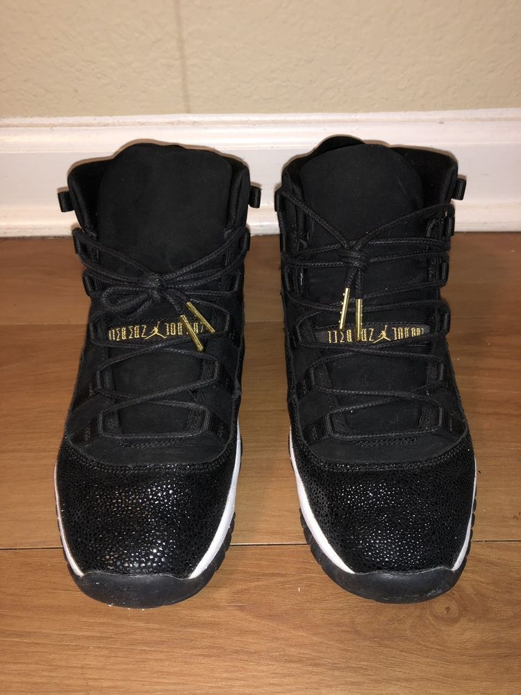 f77f02854c4 Nike Air Jordan 11 Retro HC Heiress Black Stingray 852625-030 7.5Y Women  9-9.5 | eBay