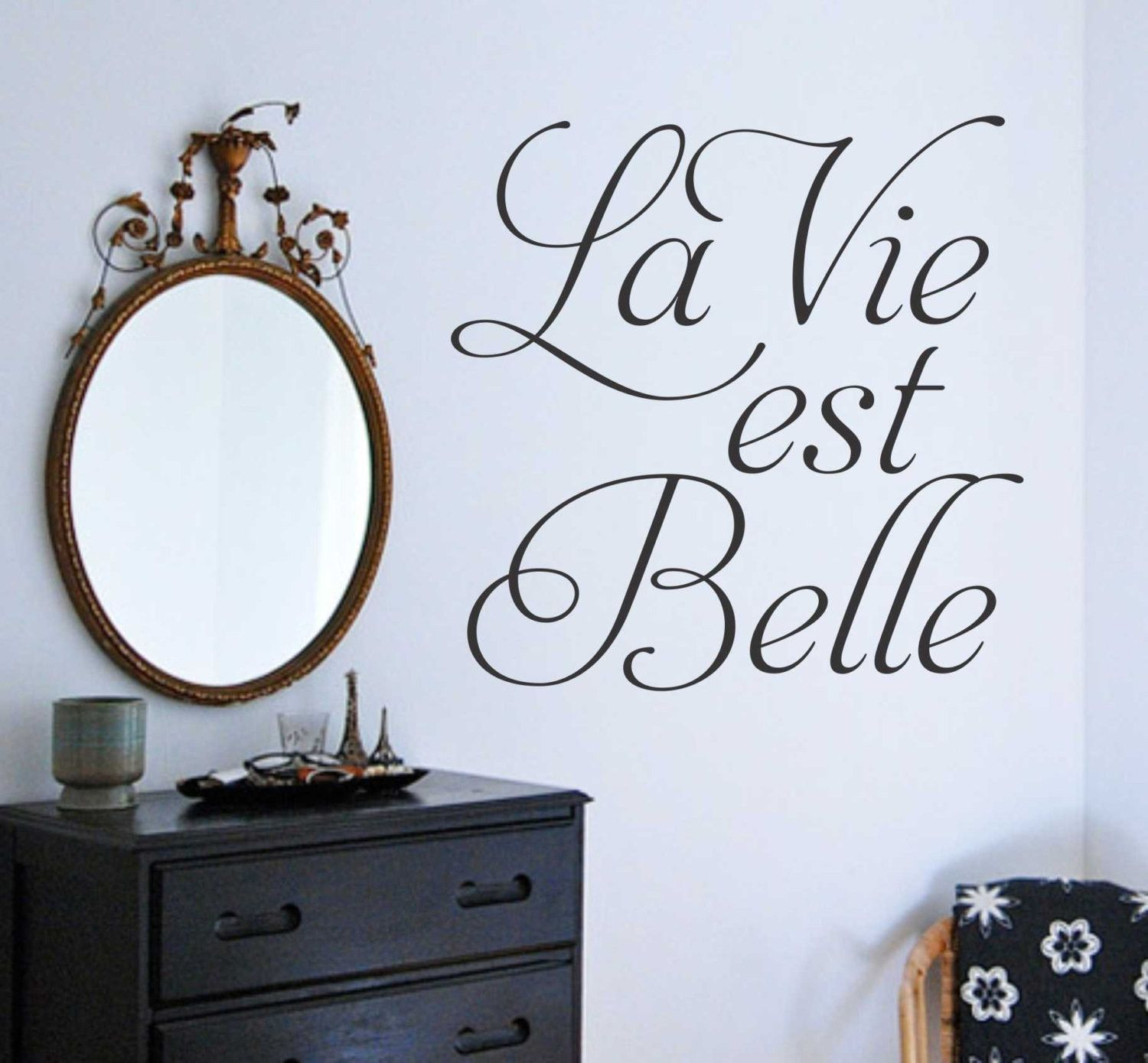 Famous Phrases About Life La Vie Est Belle Decal  Vinyl Wall Lettering  Wall Quotes
