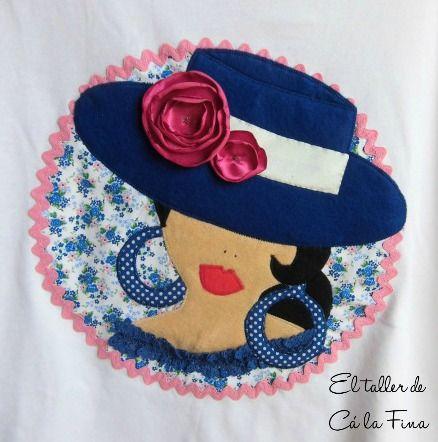 Modelo Flamenca De Detalle Córdoba Camiseta En Azul Mujer qzvcIw