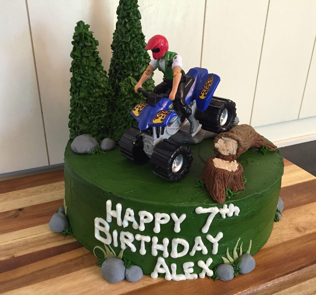 4 Wheeler Cake Off Roading Birthday