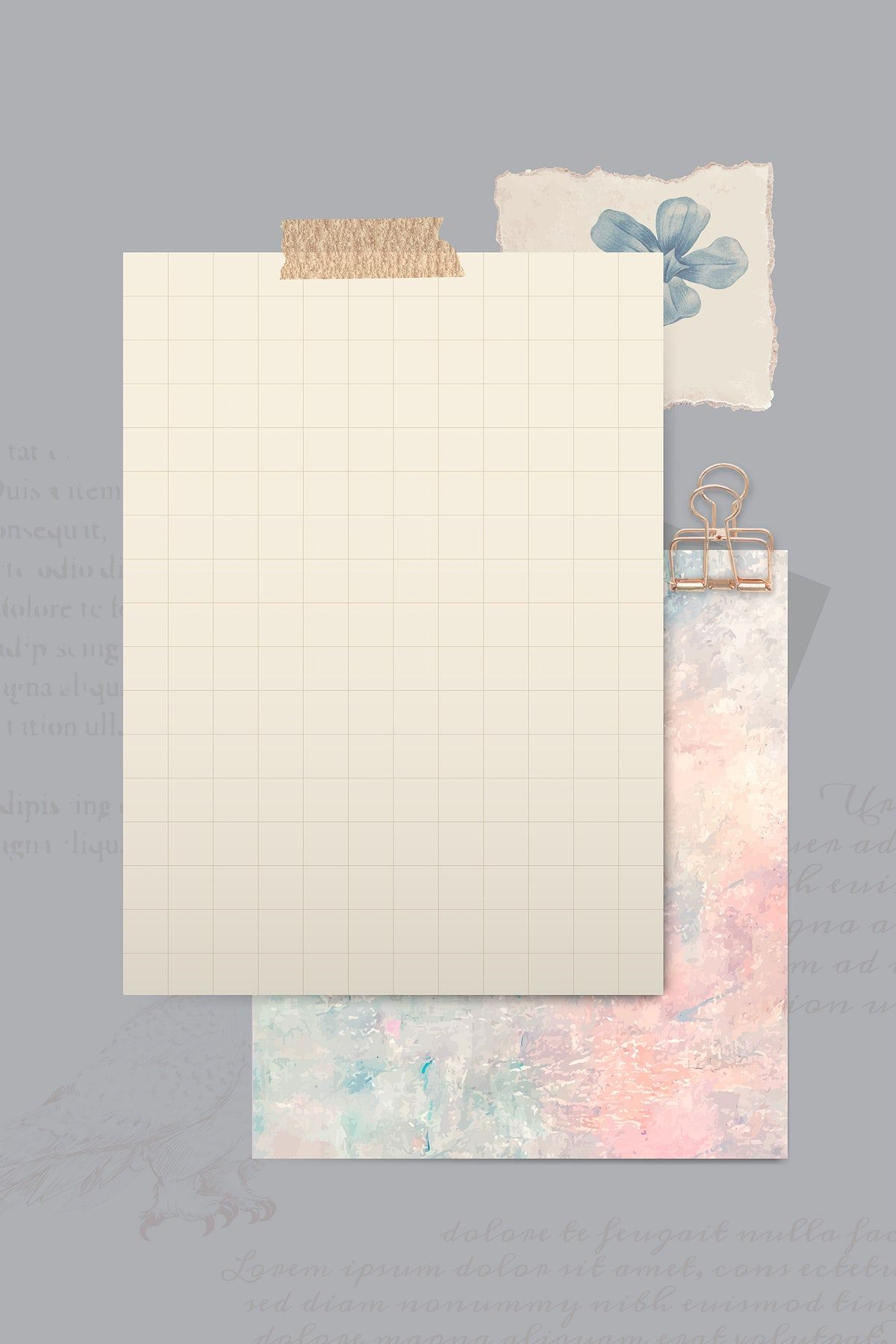 Download premium vector of Brown paper with Washi tapes template vector by Kul about bullet journal, journal background design, Journal wallpaper, notebook pages, and pastel background 2035291