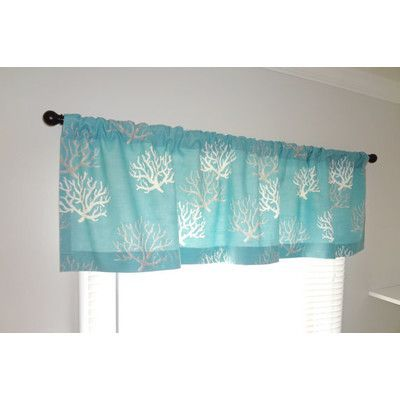 Homeliving Nautical Ocean Coral 52 Curtain Valance With Images