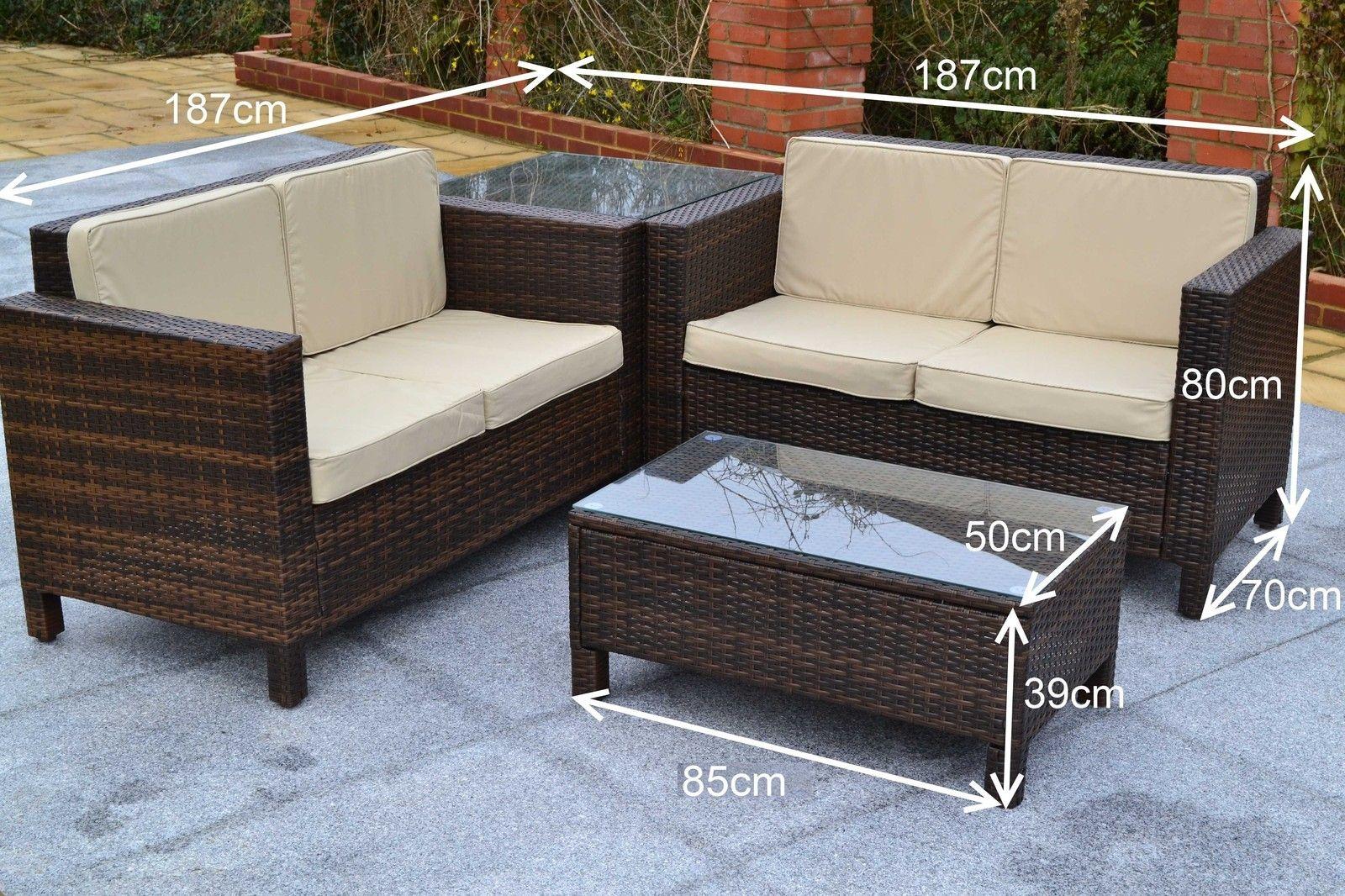 Outdoor Rattan Weave Sofa Set Garden Patio Furniture