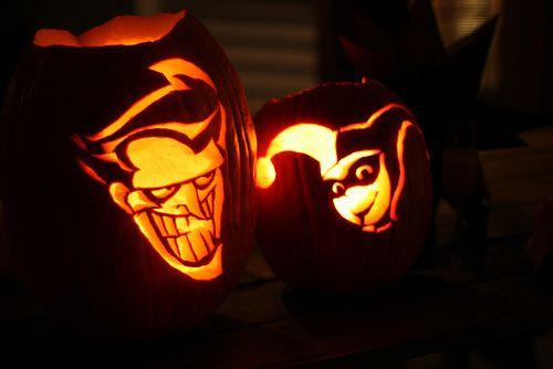 harley quinn and joker pumpkin stencil  Pin on jack o Laterns